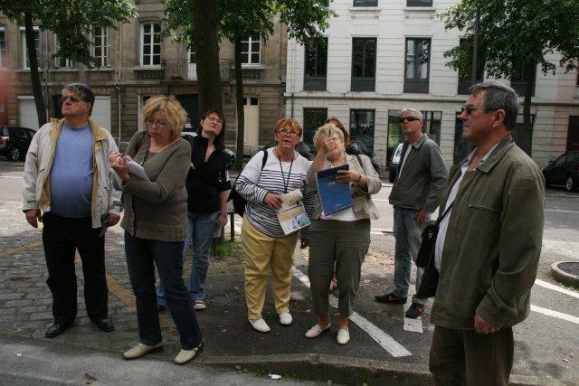 Jeudi 21 mai 2009, rallye pédestre dans le quartier de la Madeleine à Rouen