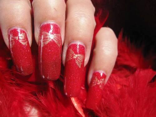 Nail art : Paquet Cadeau de Noël