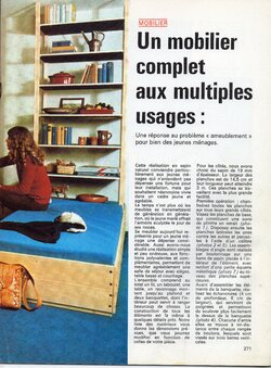 UN MOBILIER COMPLET AUX MULTIPLES USAGES