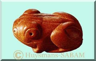 Sculpture sur bois: grenouille - Arts et sculpture: artiste peintre, sculptrice animalière