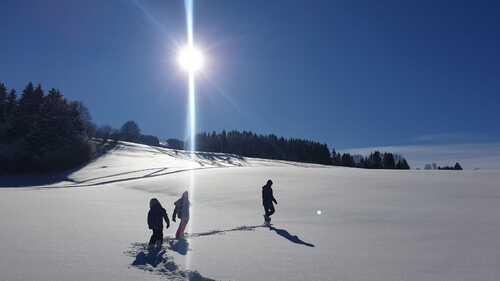Le Haut Doubs sous la neige et le soleil