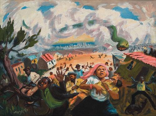 George Pemba, peintre sud-africain, par Priscillia Grondin