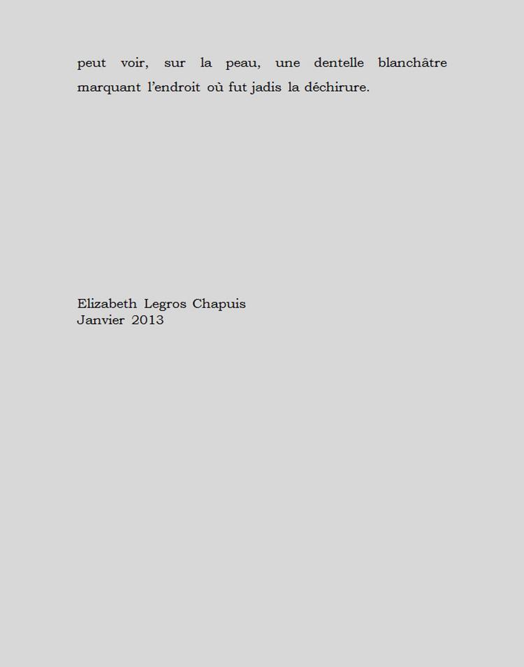 Élizabeth Legros Chapuis - Juste une image