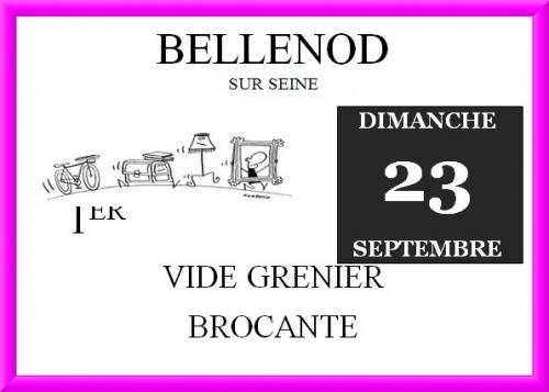 Bellenod sur Seine organise son premier Vide-Grenier le dimanche 23 septembre !
