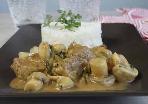 Blanquette de veau express riz et champignons