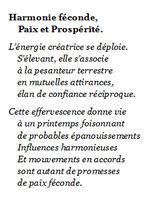 Harmonie féconde, Paix et Prospérité