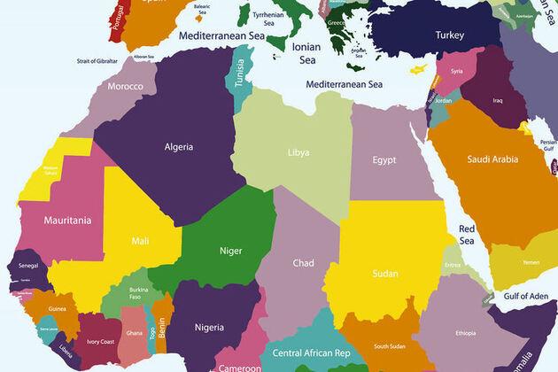 Les frontières rectilignes de l'Afrique