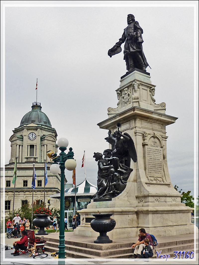 Monument honorant la mémoire de Samuel de Champlain - Québec - Canada