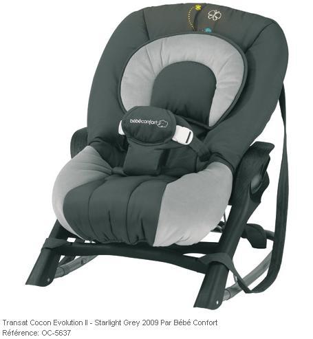 transat b b confort cocon evolutive ii starlight grey. Black Bedroom Furniture Sets. Home Design Ideas