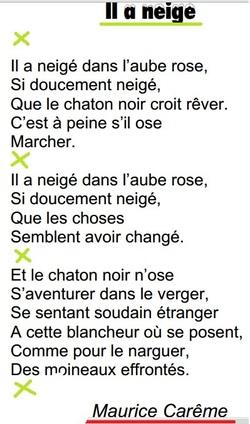 il neige, de Maurice Carême