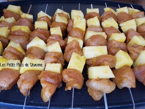 Brochettes de Poulet et Ananas