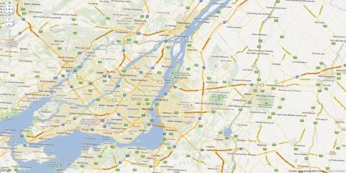 Google Maps View en plein écran