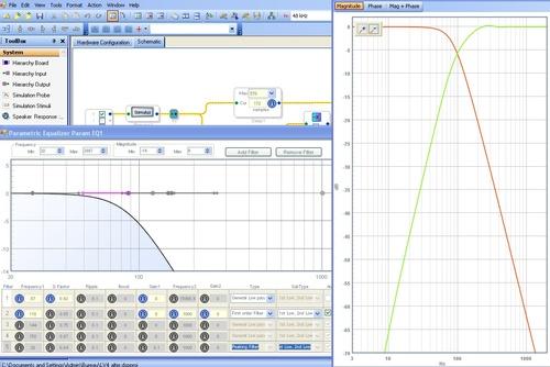 filtre soustractif / délai avec sigmastudio/dspiy