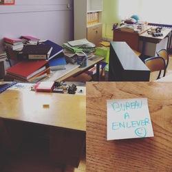 Le bureau de la maîtresse