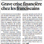 Les franciscains en faillite?
