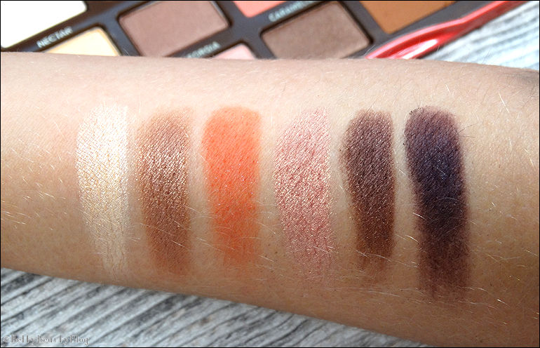 Sweet Peach (swatchs et maquillages)