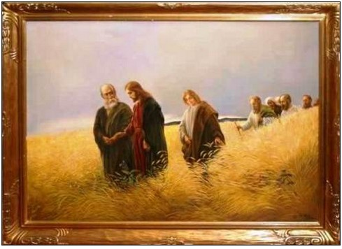 La photo et les visages de Jésus