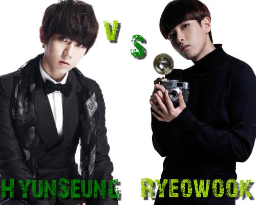 Hyun Seung (B2ST) vs Ryeo Wook
