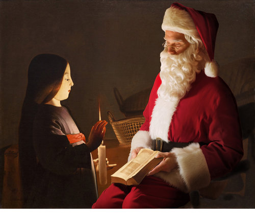Le Père Noël entre dans l'art