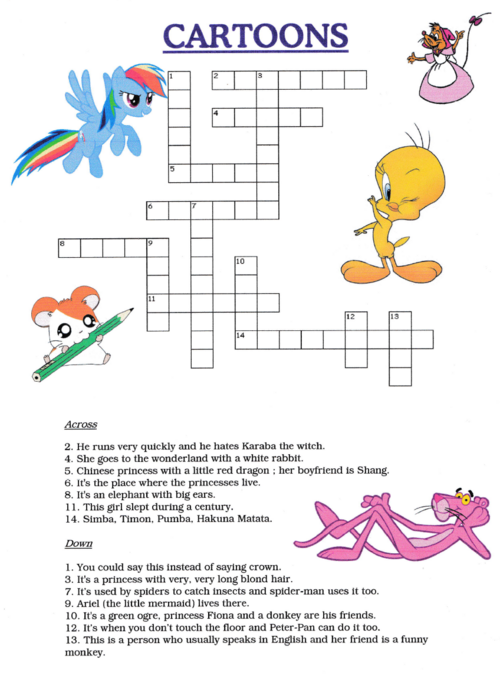 CROSSWORDS : CARTOONS