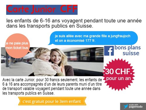 La carte Junior Suisse