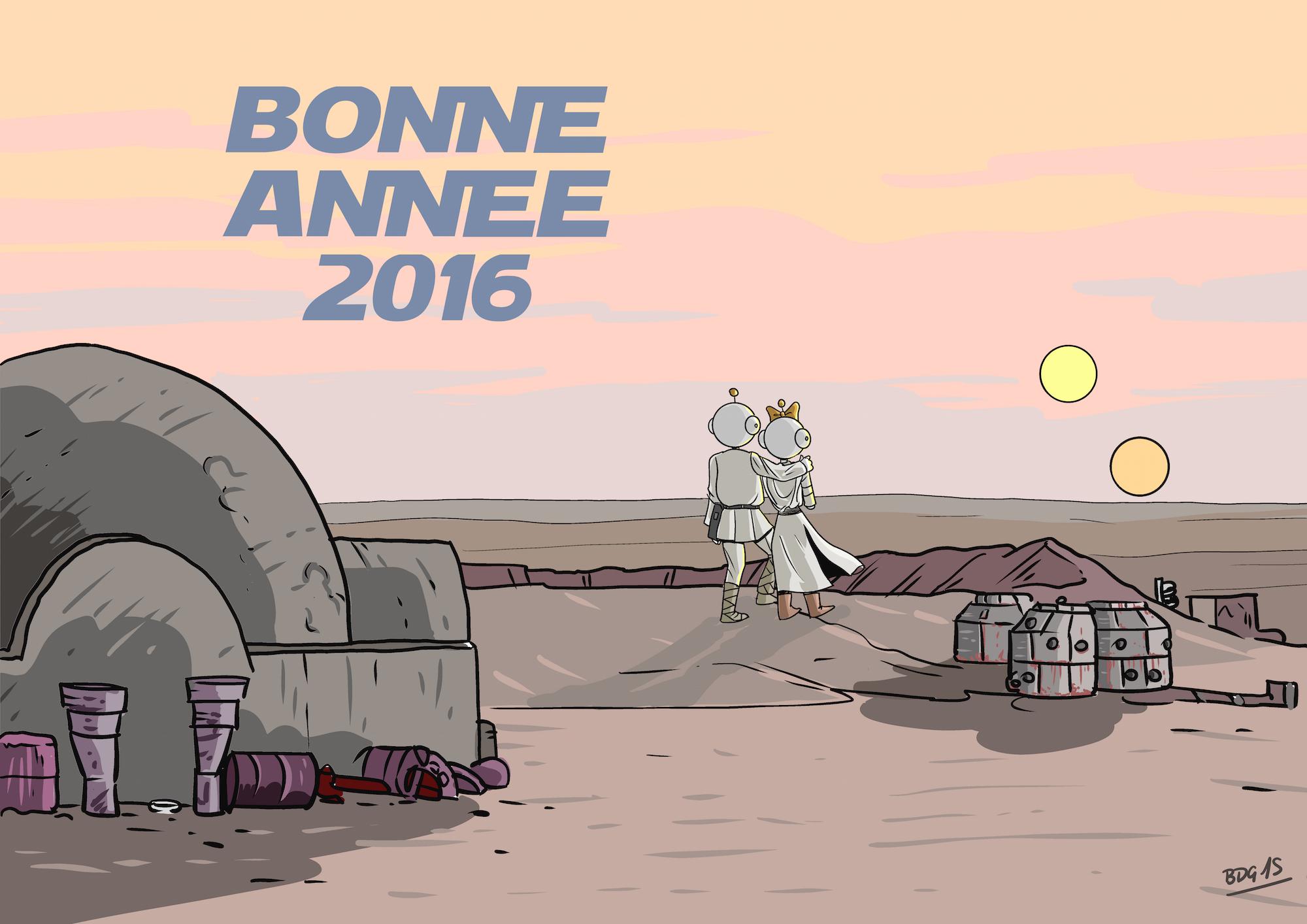 Robette et Tirobot sur Tatooine