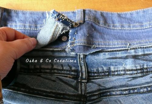 Transformer une taille basse en taille haute sur un jeans