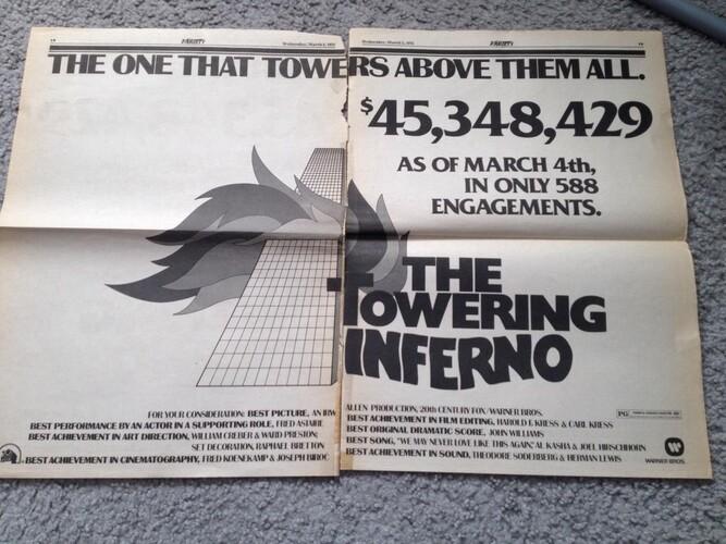 TOWERING INFERNO BOX OFFICE USA 1974