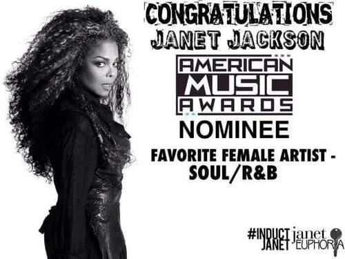 #News Janet est nominée aux American Music Awards 2016