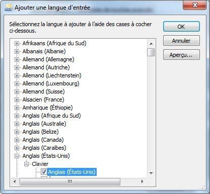 changement langue clavier
