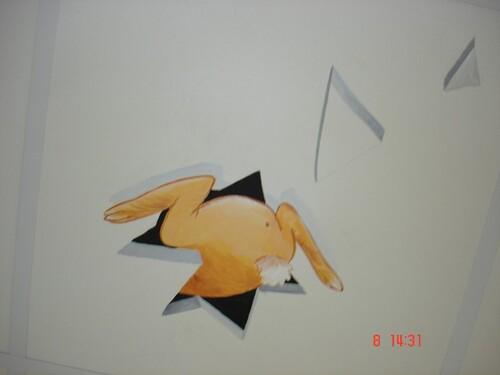 """Grâce aux """"pièces jaunes"""" et à l'association """"Les Chaudoudoux"""" le peintre Christian Boube a décoré les services de Pédiatrie et la Néonatologie"""