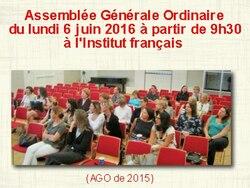Assemblée Générale Ordinaire 6 juin 2016