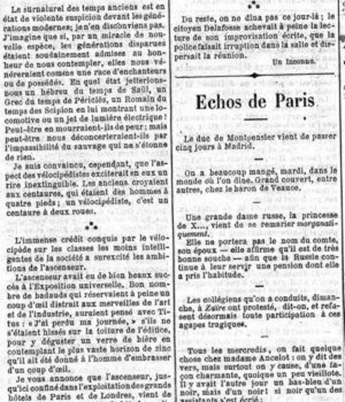 Il y a 146 ans... Le Figaro se moquait de l'arrivée des ascenseurs