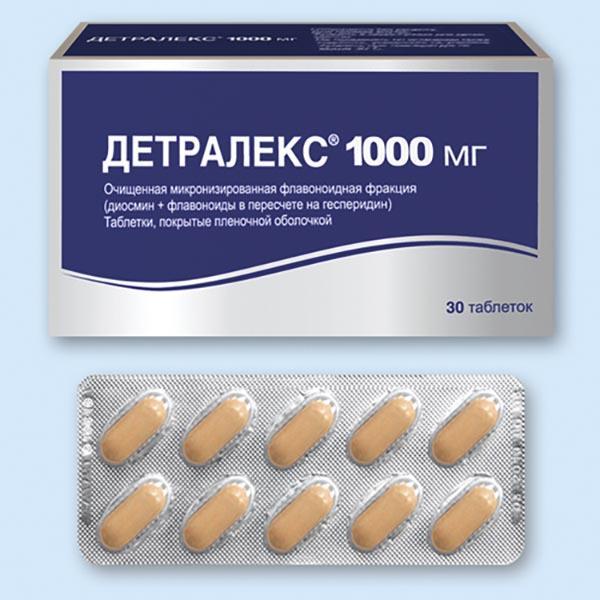 Детралекс таблетки от геморроя
