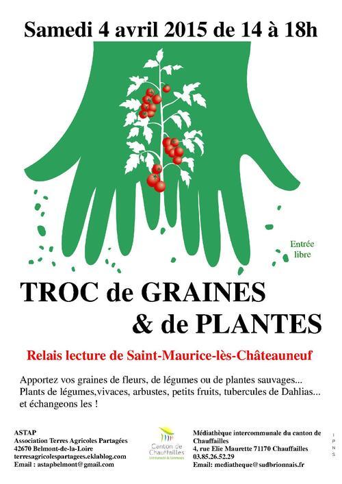 Troc aux graines et aux plantes le 04 avril en Sâone-et-Loire