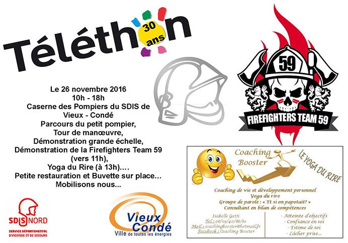 Téléthon des Sapeurs-Pompiers, à Vieux-Condé