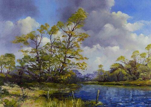 Dessin et peinture - vidéo 2118 : Peindre les prémisses de l'été à la peinture à l'huile.