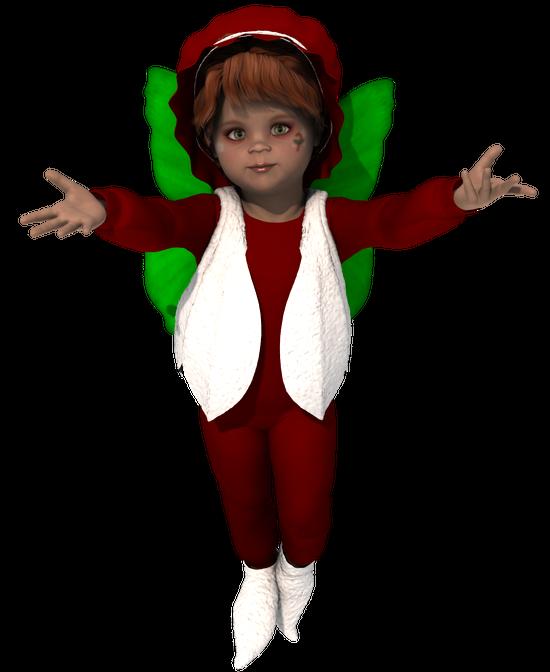 Tube fée lutin de Noël (image)