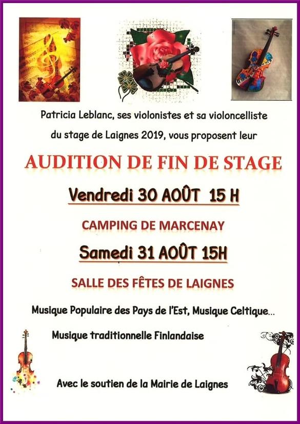 Les stagiaires de Patricia Leblanc, à Laignes, ont démontré leur aisance au violon et au violoncelle