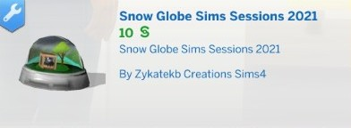 """Boule a neige """"Sims Sessions"""" 2021"""