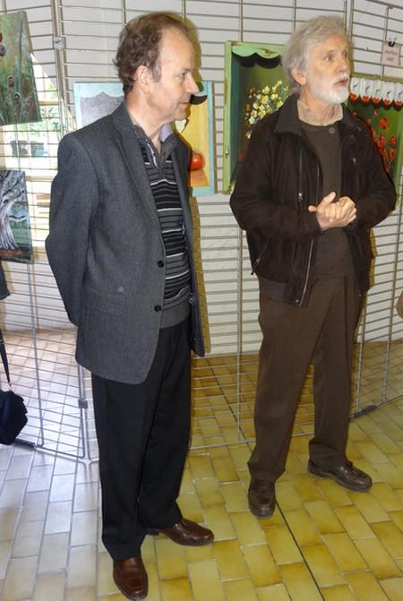 L'inauguration du Salon de Peinture des Amis dui Châtillonnais, salle des Bénédictines