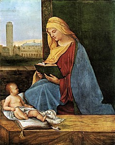 Giorgione - Giorgio Barbarelli - The Reading Madonna