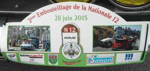 28 juin 2015 2ème embouteillage de la nationnale 12 à Morlaix
