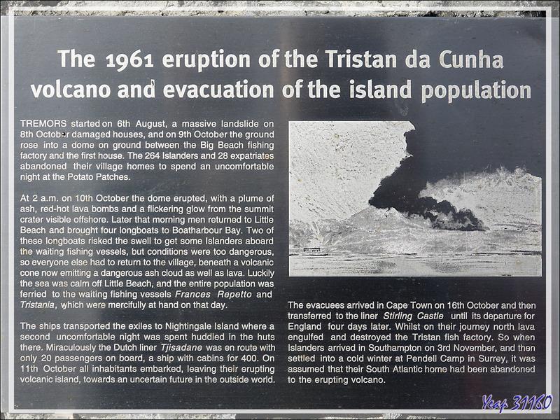 La petite histoire du Volcan 1961 - Edinburgh of the Seven Seas - Tristan da Cunha