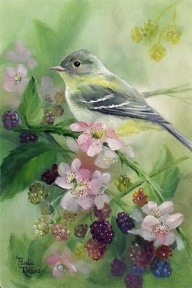 Résultats de recherche d'images pour «oiseau fleurs pinterest»
