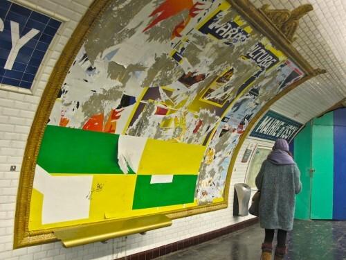 affiche vide palimpseste métro 3