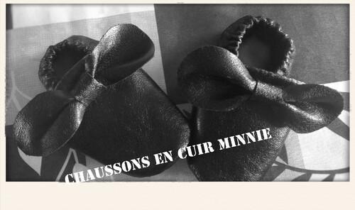 Chaussons en cuir Minnie