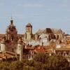 De la tour St Nicolas .. la cathédrale St Louis et la grosse horloge par Carène Couzinet