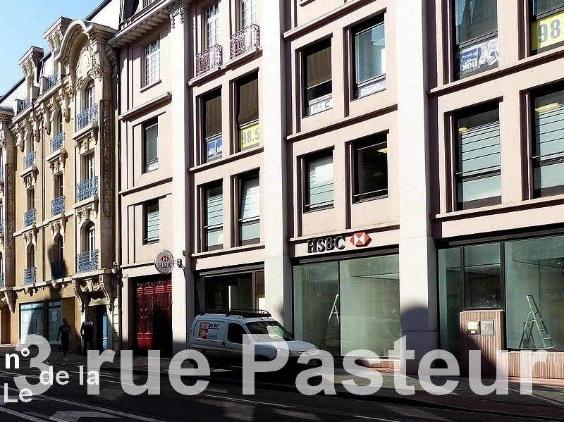 Metz / L'immeuble du n° 3 de la rue Pasteur...
