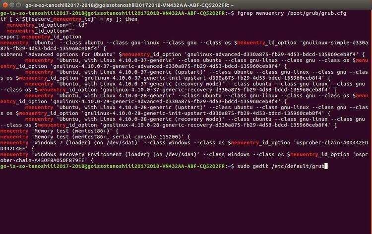 bootloader GRUB : Changer le système de démarrage par défaut, Windows au lieu de Ubuntu